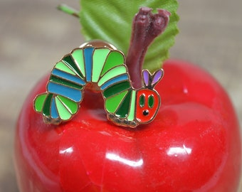 Very Hungry Colorful Caterpillar Enamel Pin - Preschool Kindergarten Science Teachers - Children's Book Character - Story Time Collectible