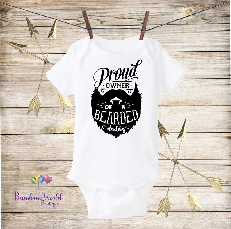 Girls' Clothing (newborn-5t) One-pieces Responsible Proud Owner Bearded Daddy Baby Vest New Baby Gift Beard Moustache Present