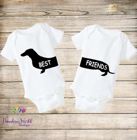 Twin Baby Bodysuits Onesie