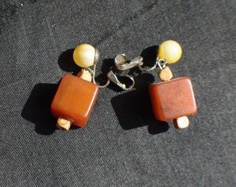Bakelite vintage earrings