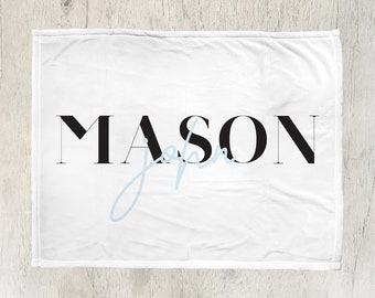 Customized Kids Name Blanket - Modern, cute, personalized blanket for kids