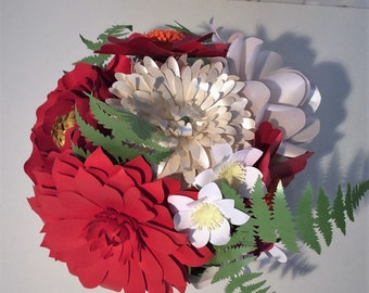 Red and White Paper Posy/Bouquet