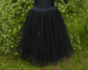 Black tulle petticoat