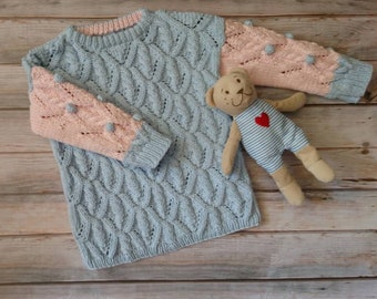 Knitted sweater for little girl