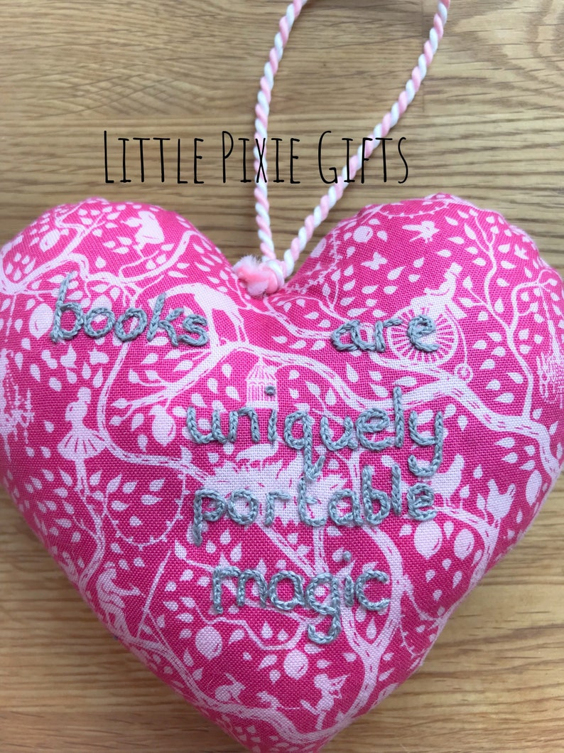 A hand-sewn lavender scented heart