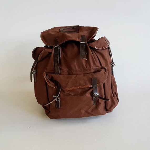 Vintage Backpack / Hiking Backpack / Brown / Vinta