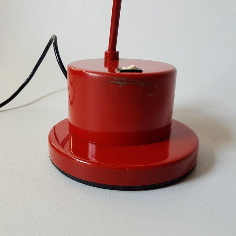 Vintage Desk Lamp  Red  Table Lamp  Lighting  Yugoslavia  80s
