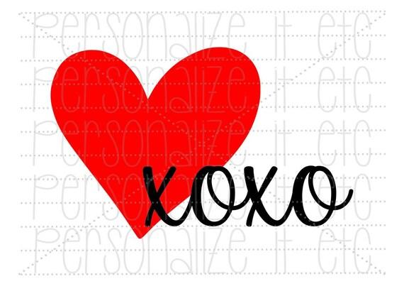 Xoxo Heart Svg File Be Mine Svg File Valentine Instant Etsy