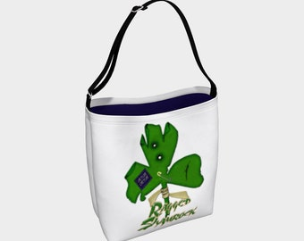 Ragged Shamrock Day Tote