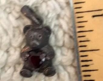 Teddy Bear holding Red Heart pendant