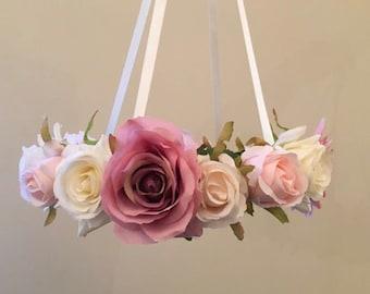 Metallic Rose Gold Eleganza Deco Poly Mesh 25cm x 10y Wreath Decor Floristry