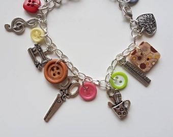 Craft/creative/artistic charm bracelet