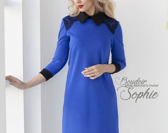 50a4321f7e174b Stijlvolle blauwe jurk