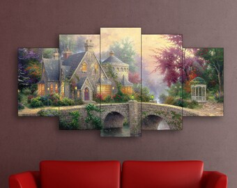 Lamplight Manor art on canvas