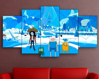 Adventure Time, Finn and Jake, Lands of Ooo, Adventure Time canvas, Finn and Jake canvas, Lands of Ooo canvas, Adventure Time print