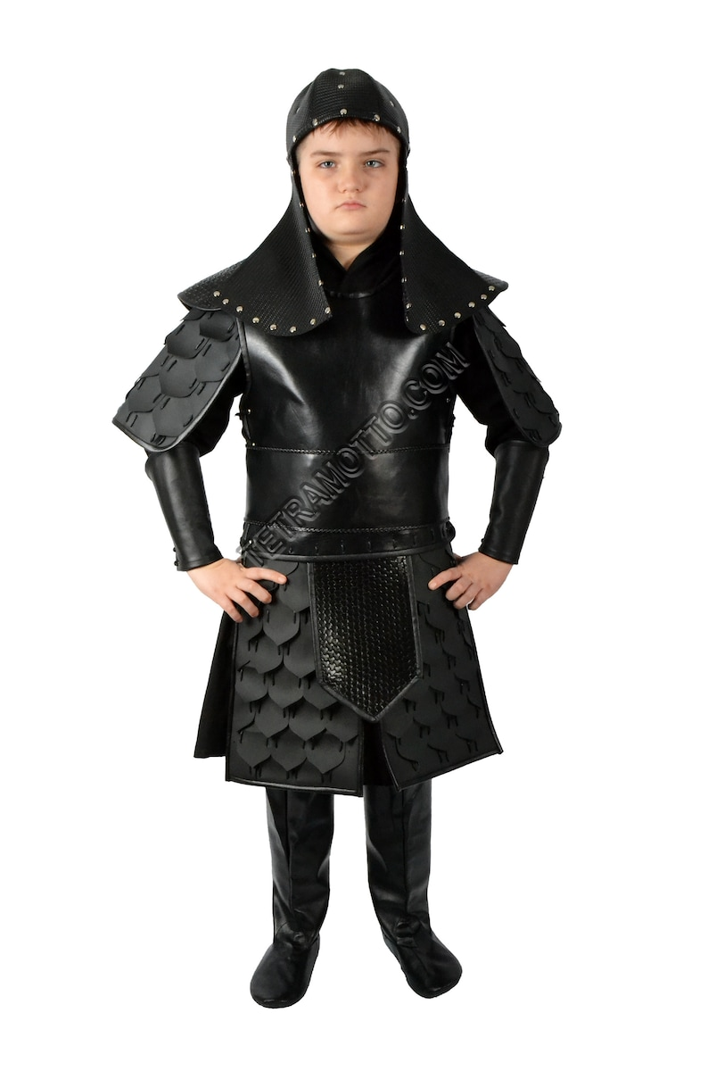 Black mongol costume for kids MM1258