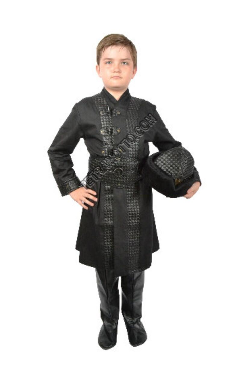 Black  Ertugrul costume for kids MEC1205