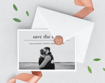 Postcard Save The Date Templates | Save The Date Postcard Template Etsy