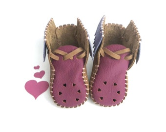 Gypsy Heart Leather Baby Shoes & Moccs