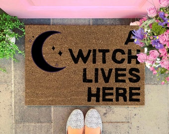 Witch Doormat, Witch Decor, Witchcraft Gift, Wiccan Gift, Pagan Gift, Custom Doormat, Housewarming Gift, Gift For Witches, Welcome Mat