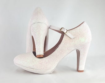 feaef404465 Mary Jane wedding shoes block heel