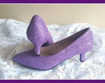 50fd5482602 Purple glitter shoes