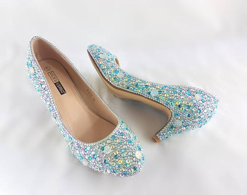 34e140827df Cinderella wedding shoes kitten heel wedding shoes