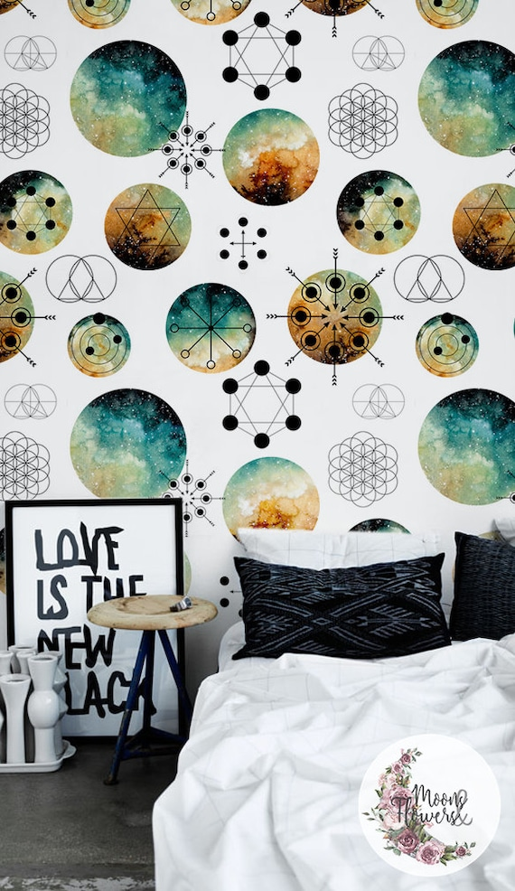 Reusable Still Life wall decor Temporary wallpaper Repositionable #61 Removable wallpaper Painting wall mural Peel and stick