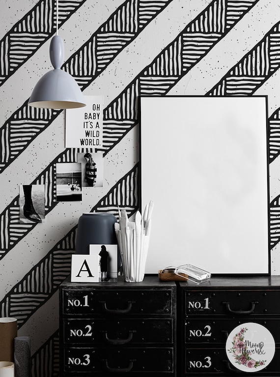 Bw Ethnic Removable Wallpaper Simple Wall Mural Minimalistic Wall Decor Peel And Stick Reusable Removable Repositionable Maf111