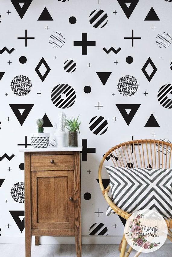 Abstrait Géométrique Fond Décran Amovible Simple Murale