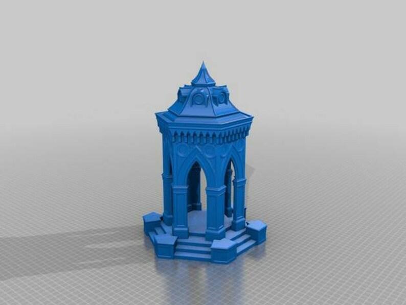 Warhammer fantasy terrain  Fountain  AoS  28 mm scale  Stone building  3d  print