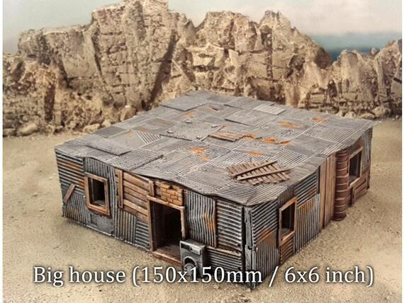 Warhammer 40k terrain  Shanty house scenery  150x150 mm  star wars legion   3d print