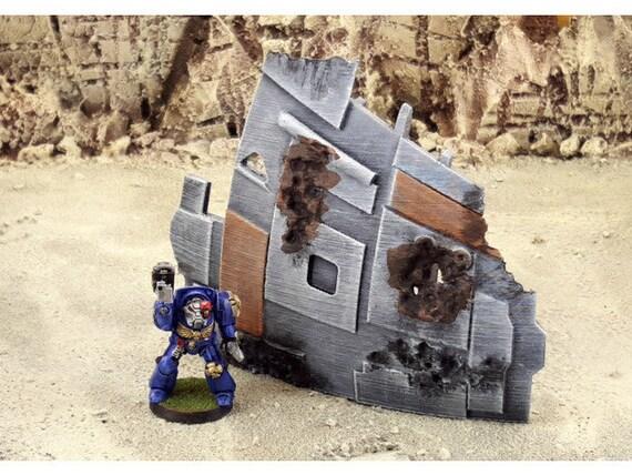 Warhammer 40k/Star wars legion scenery Shipwreck terrain 28mm  scale necromunda