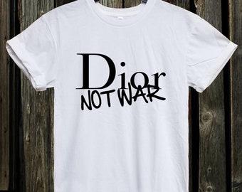 Dior not war t shirt   Etsy 9c0697a5aac7