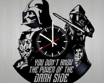 Star Wars Vinyl Wall Clock, Wall Clock Vintage, Gift For Boy, Birthday Gift, Darth Vader Vinyl Record Wall Clock, Wall Clock Modern