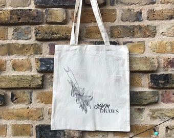 Organic cotton tote bag with Lily print !