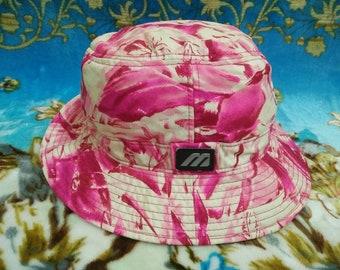 Vtg MIZUNO Floral Full Print Bucket Hat Size L ceb4e946f2d