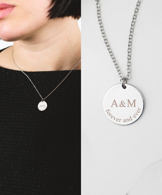 Custom Coin Necklace Custom Coin Jewelry Personalized Name Necklace Date Initial Womens Necklace Mom Necklace Personalized Coin Necklace