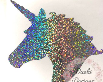 Unicorn Head Decal Etsy