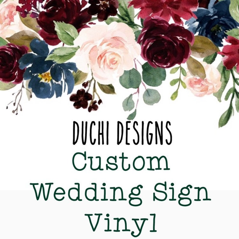 Custom Wedding Decal Custom Chalkboard Vinyl Custom Wedding image 0