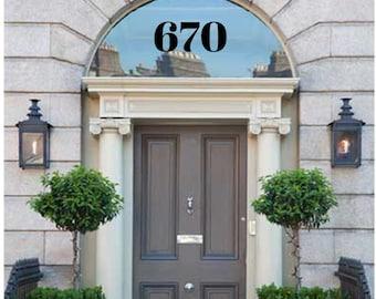Interior Application Door Numbers Decal, Street Address Number Sticker, Apartment Door number decal, Mailbox Number Stickers Building Number