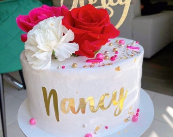 Custom Cut out Names for Cake Decorations,  Custom Names for Cake Making, Vinyl and Cardstock Names for Cake Design