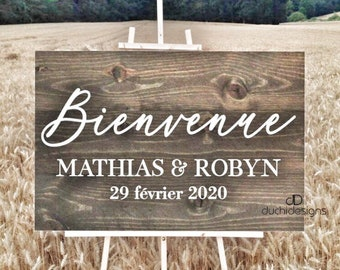 Boho Custom Choose a Seat Not a Side Wedding Sign Personalized Two Families are Becoming One Vertical Wooden Sign  Rustic Wedding Decor Sign