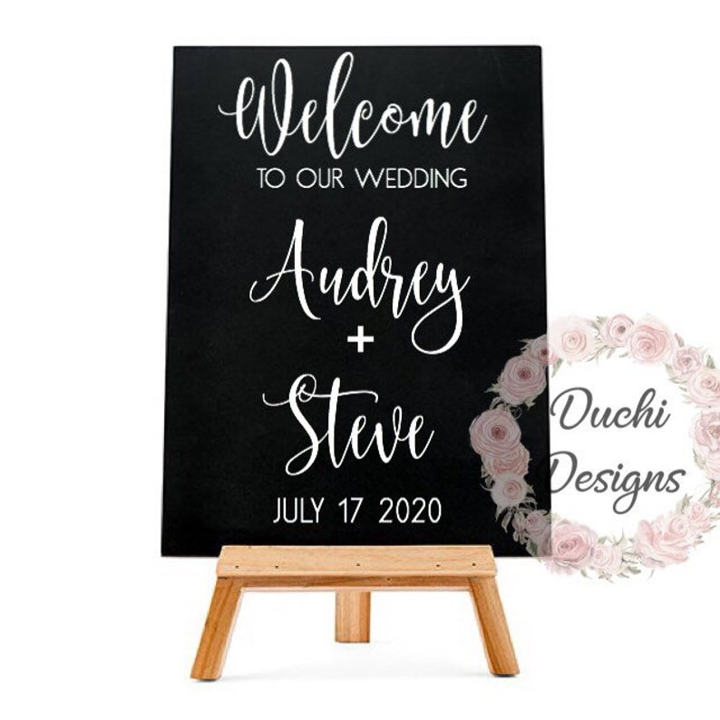 Welcome to our beginning Vinyl Welcome to our wedding decal image 0