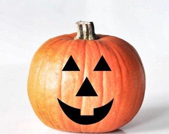 Jack O'Lantern Pumpkin Vinyl Decal, Pumpkin Face Stickers for Halloween Decal, Pumpkin Face Vinyl Decal, Fall Vinyl Decal, Halloween Decor