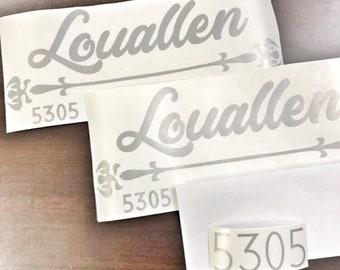 Vinyl for Mail Box Mailbox Decal Mailbox Numbers Mailbox Vinyl Decals Vinyl Decals Mailbox Name Decal Mailbox Designs, Custom Mailbox Decals