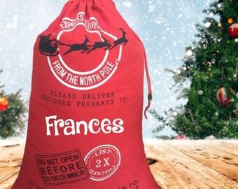 Large Jumbo Santa bag, Personalized Christmas bag, Oversized Santa sack, Christmas Bag for Presents, Christmas Gift, Custom Santa sack Bag