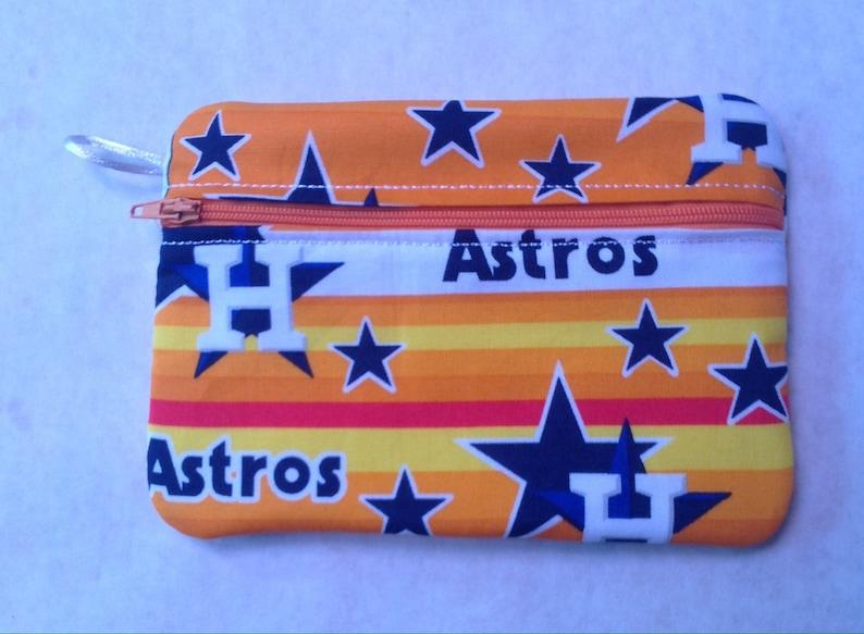 Houston Astros zipper bags