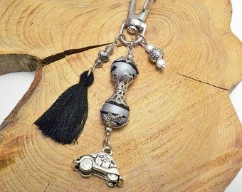 Handbag charm,car charm,car mirror charm,keychain charm,car gift,purse charm,keychain accessory,tassel charm,zipper charm,bijou de sac