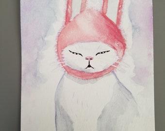 Custom Easter Cat Portrait